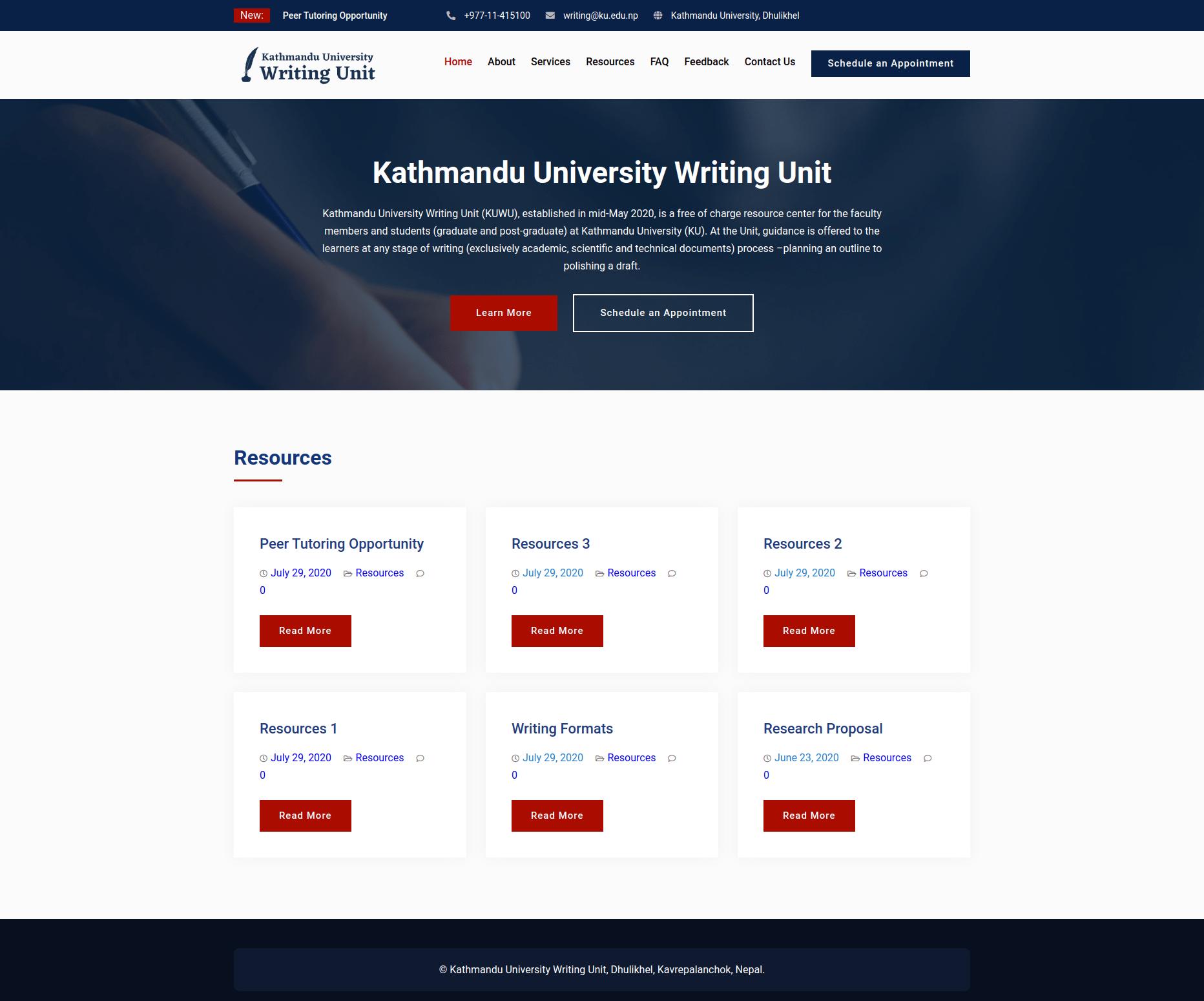 Writing Unit